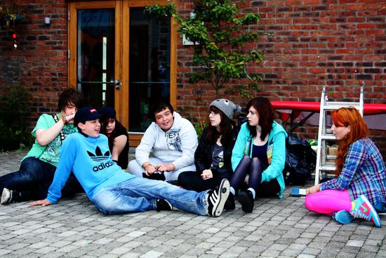 Image of young people from Ballymun
